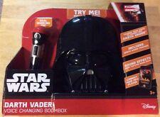 Star Wars: Darth Vader Helmet-Shaped Radio Voice-Changing Boombox - New In Box