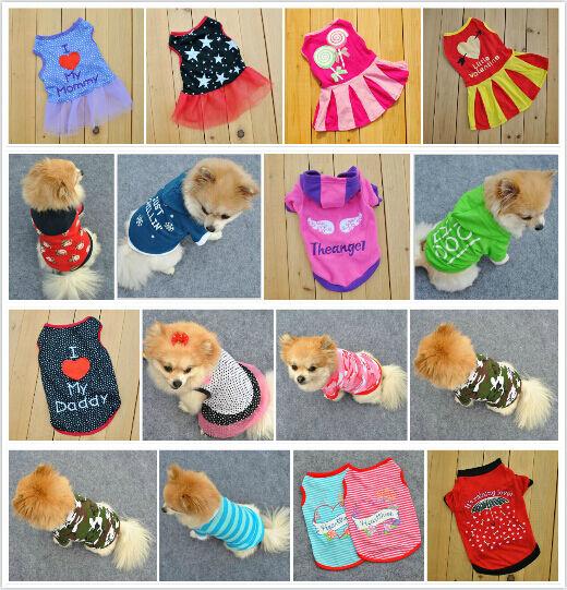 2016 New Summer Various Pet Puppy Small Dog Cat Pet Clothes Vest T Shirt Apparel