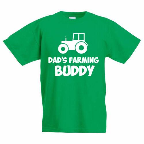 Allevamento per Bambini T-Shirt-Dad /'s allevamento Buddy-Divertente Giovane Agricoltore//Kids