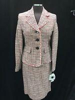 Albert Nipon Skirt Sui/size 10/tweed Fabric/lined/retail$249/skirt Length 23