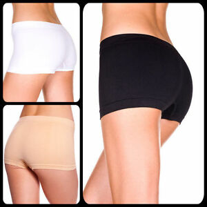 554910fd4a15 Image is loading Womens-Natural-Bamboo-Fibre-Boyleg-Briefs-Lingerie- Underwear-