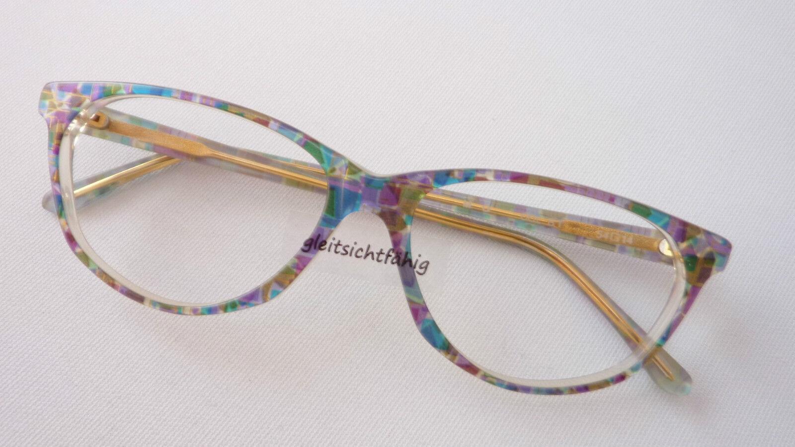 Kleidung & Accessoires Brillenfassungen Ellen Betrix Brillenfassung Butterfly Groß Brille Markengestell Damen Grösse S