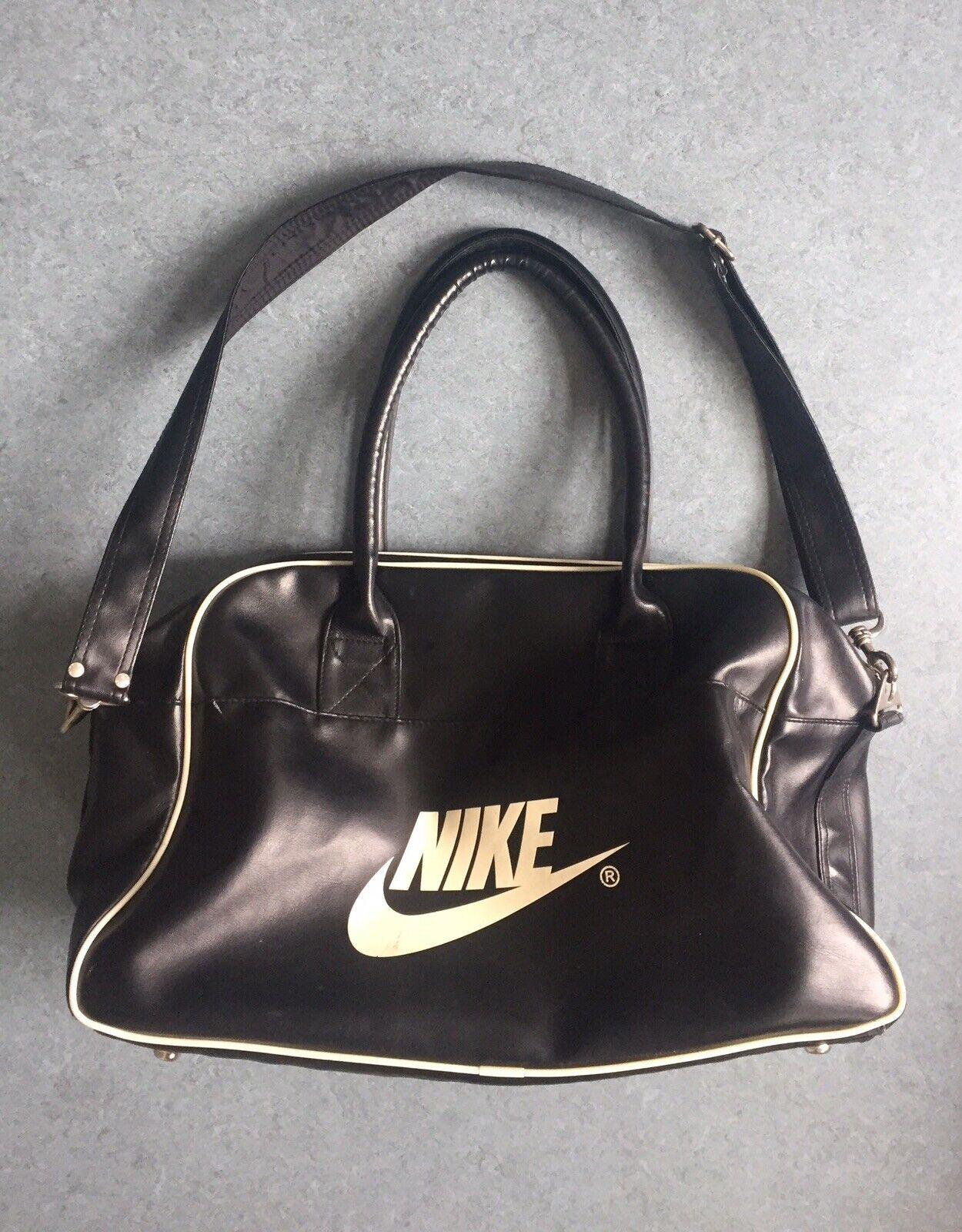 Nike vintage bolso bolso de mano bolsa de deporte negros