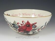 """Lenox Winter Greetings Christmas Home is Where the Heart Is 7"""" SENTIMENT BOWL"""