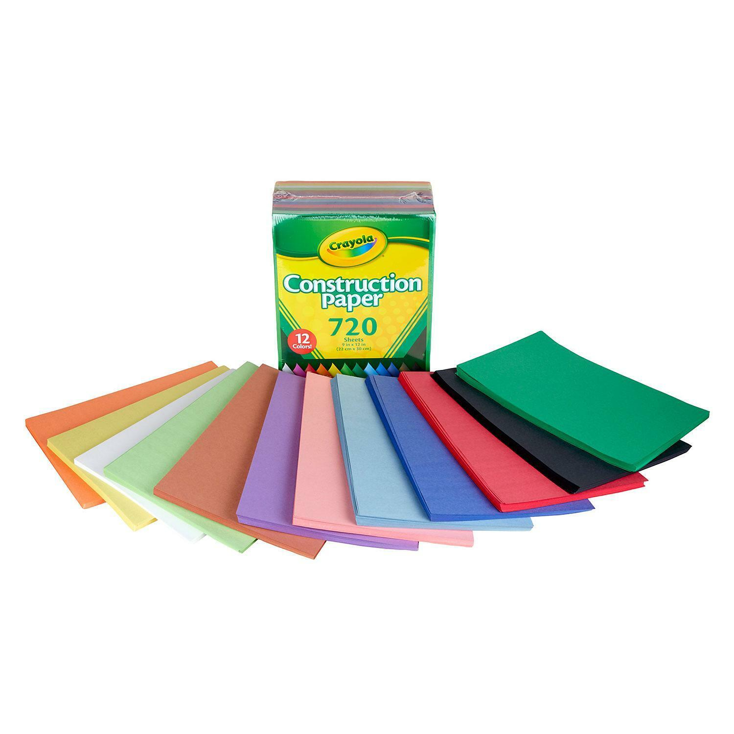 12 Assorted Colors 720 ct. Crayola Bulk Construction Paper