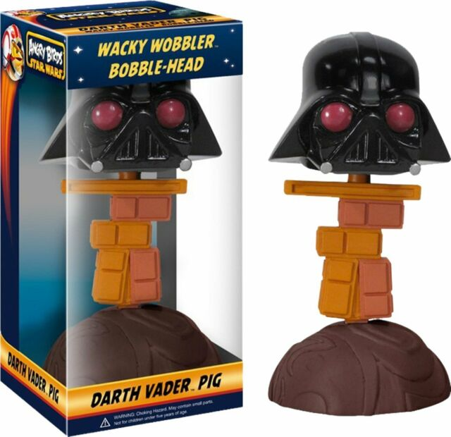 Funko Angry Birds Star Wars Darth Vader Pig Wacky Wobbler Bobblehead