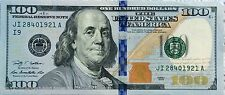 $100 dollar bill Fed Reserve Note 2009,2009A lightly circulated Fast Shipping!