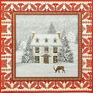 4x Paper Napkins for Decoupage Decopatch Craft Winter Friends