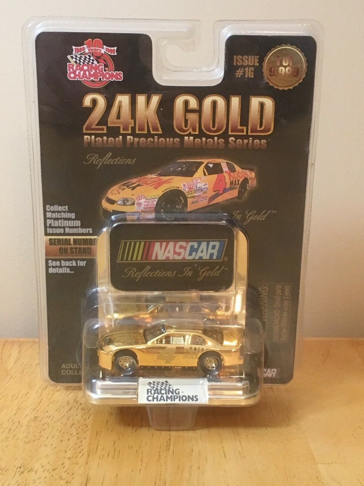 NASCAR Racing Champions 24K gold Plated Precious Metal Series Car New Sealed