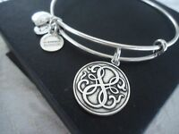 Alex And Ani Path Of Life Russian Silver Charm Bangle W/ Tag Card & Box