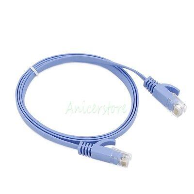 10pcs 1M CAT6 RJ45 Ethernet Network LAN Interne Cable Flat UTP Patch Router BLK