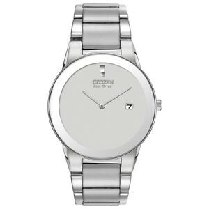 Citizen-Eco-Drive-Men-039-s-AU1060-51A-Axiom-Gray-Dial-Silver-Tone-40mm-Watch
