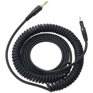 AUDIO-TECHNICA-1-2m-detachable-carl-cord-BK-for-ATH-M50x