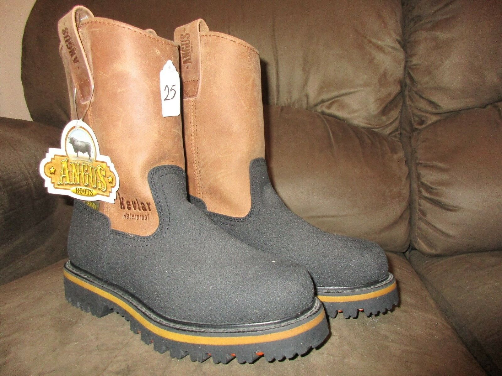 Angus work work Angus boots black and brown leather a54deb