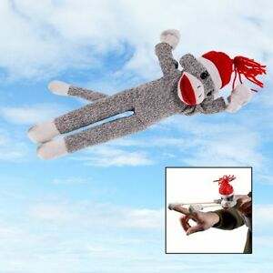 Flying-Screaming-Sock-Monkey-Toy-Launch-50ft-Superfly-Slingshot-Kids-Adults