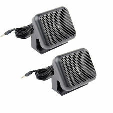 2pcs CB Radios Mini External Speaker ham Scanner For Kenwood Motorola ICOM Yaesu