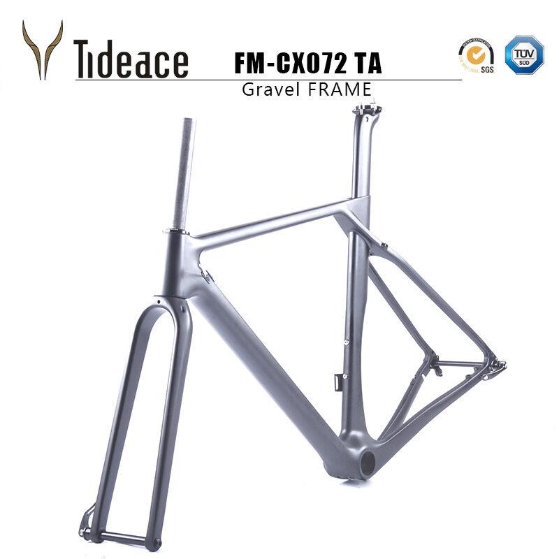 2018 Carbon Gravel Frame FM-CX072 Cyclocross Road Racing 700C Bike Frames BB386