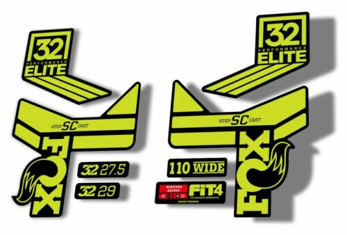 FOX 32 Step Cast SC Elite Performance Fork Suspension Decals Stickers Lime Green