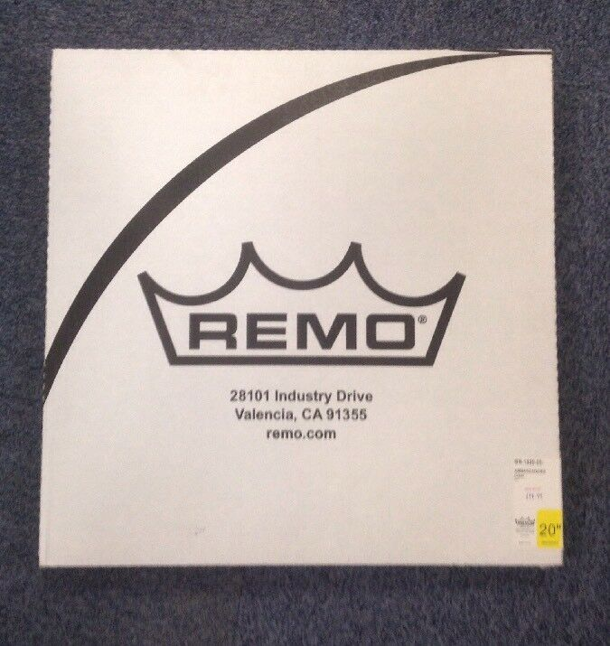 20  Ambassador Clear Bass Head By Remo