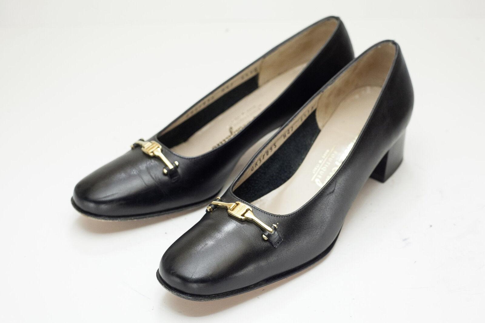 Salvatore Ferragamo 6.5 AAA Black Pumps Shoes Women's Shoes Pumps b24183