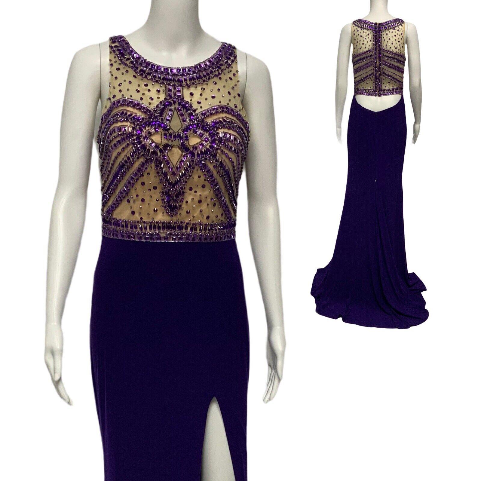 MORILEE by Madeline Gardner evening formal long dress purple size 5/6
