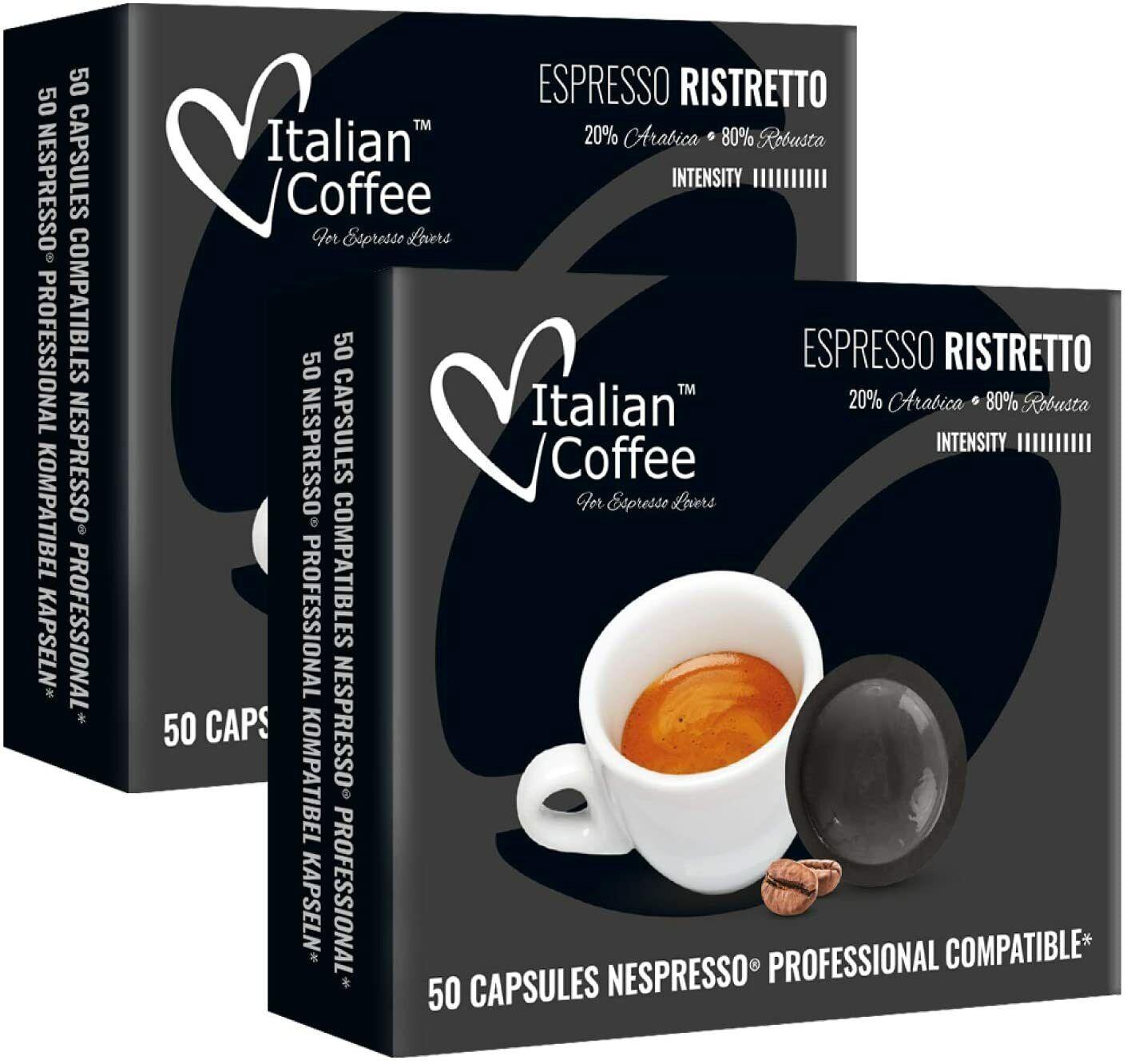 100 Capsulas Nespresso Profesional Compatibles - Ristretto