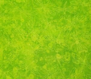 Dragonfly Yellow Blender BTY Fabric Traditions Tonal Tone-On-Tone