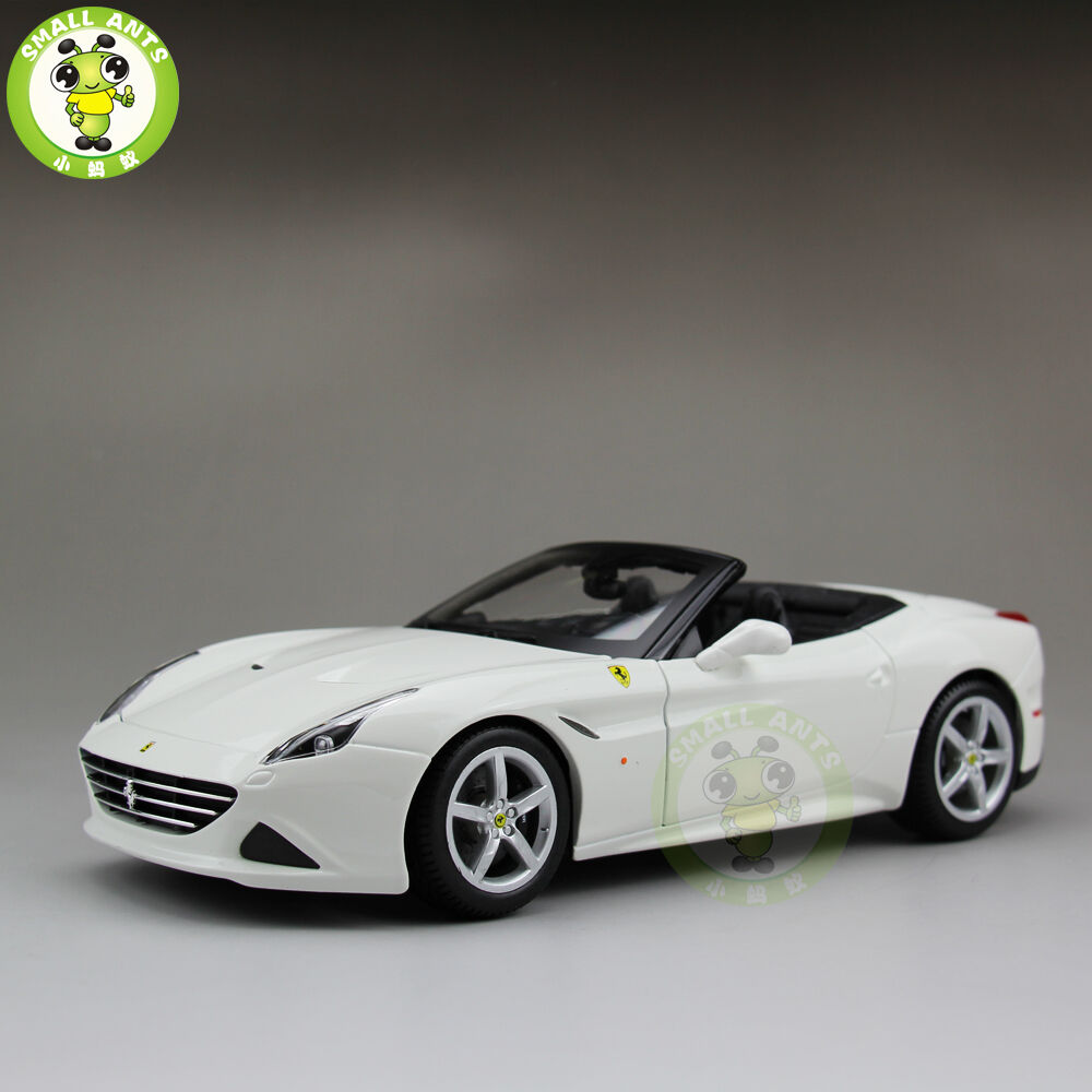1 18 Ferrari California T Open Top Diecast Car Model Burago BBU16007 white