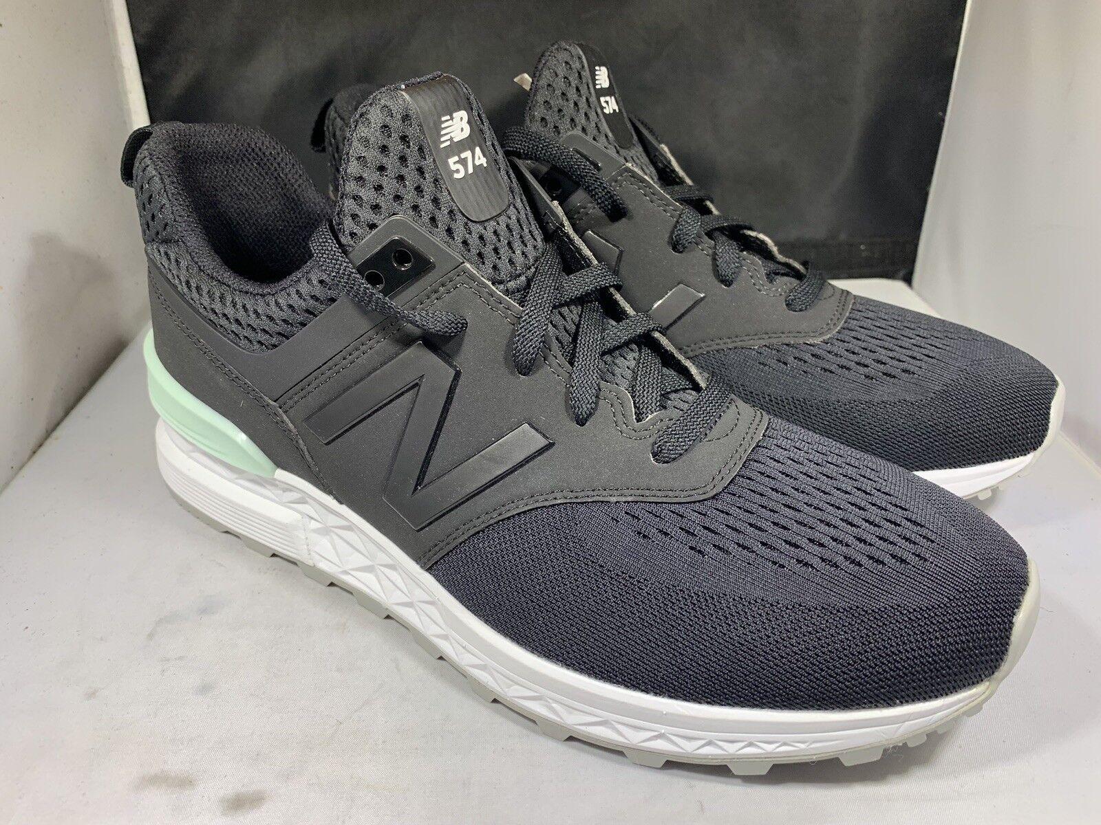 New Balance Men's MS574TMB black and white tennis shoes size 9.5d (nb45)