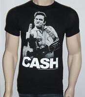 Zion Rootswear Johnny Cash Flippin' Tee Mens Slim Fit Black T-shirt