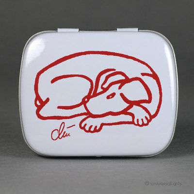 JACQUELINE DITT - Tin Box Dog - Red Art Multiple limitiert Hund Dose Minz Box