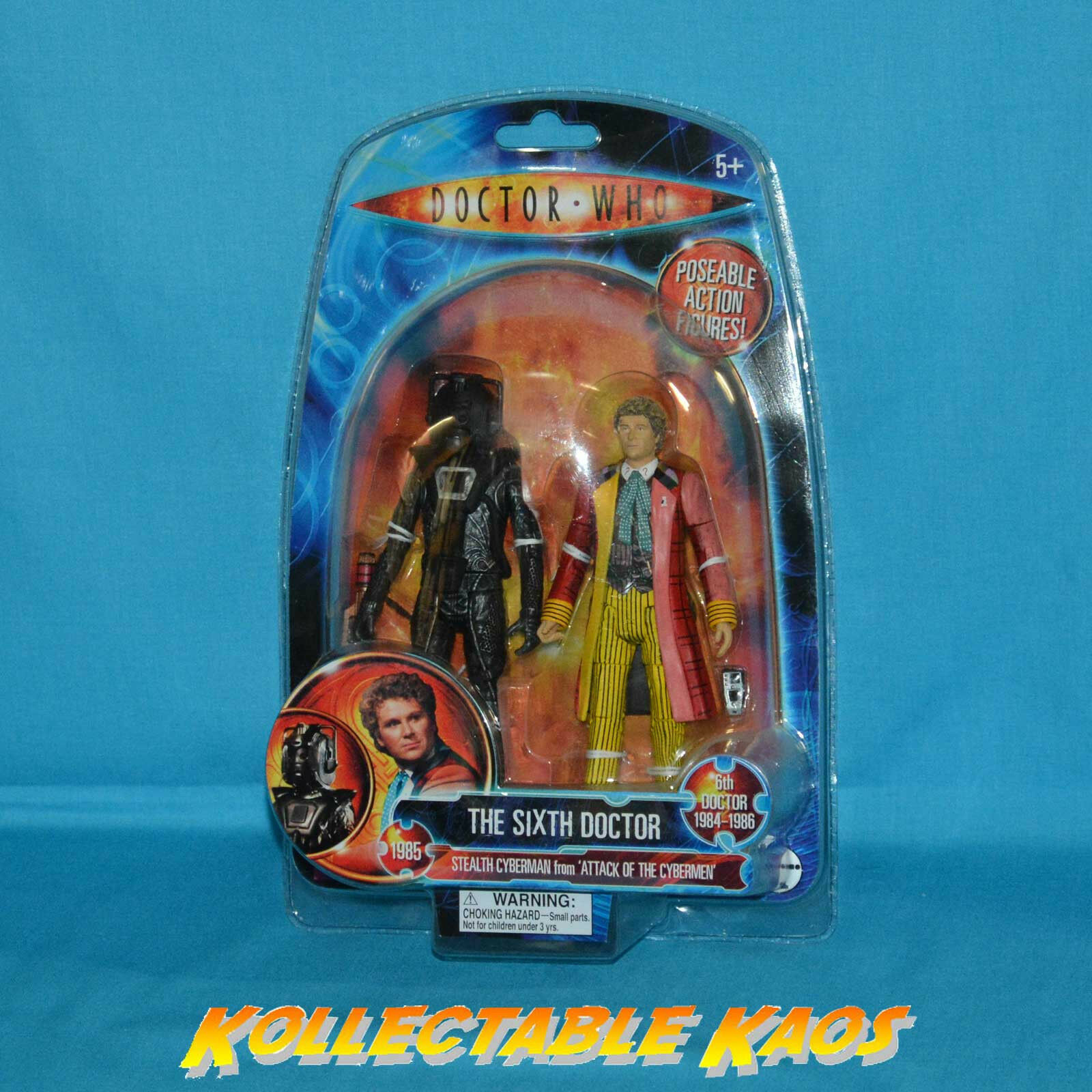 Doctor Who - 6th Doctor and Stealth Cyberman 17.5cm(7 ) Action Figures
