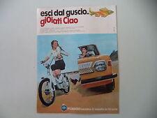 advertising Pubblicità 1974 PIAGGIO CIAO 50