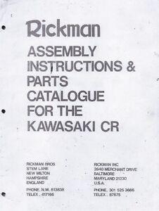 1975 Rickman CR Kawasaki Z1 parts & assembly book COPY