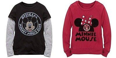 Disney Store Long Sleeve T Shirt Mickey Minnie Mouse Club Disneyland Birthday