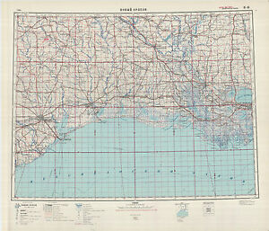 Russian Soviet Military Topographic Maps Sheet New Orleans Usa