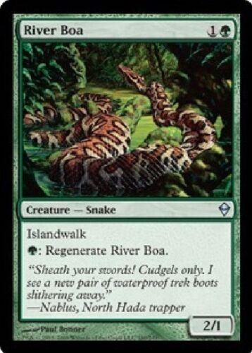 4x MTG: River Boa Magic Card Green Uncommon ZEN Zendikar