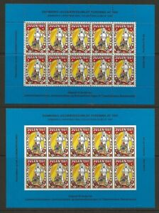 Denmark-DJF-1981-Child-amp-Gifts-Xmas-TB-Seal-Sheets-Perf-Imperf-VF-NH-dull-gum