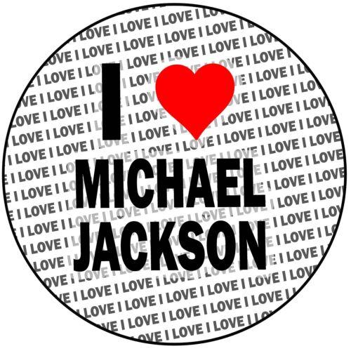 "Round 8/"" 20cm Icing Cake Topper Birthday Event I Love Michael Jackson"