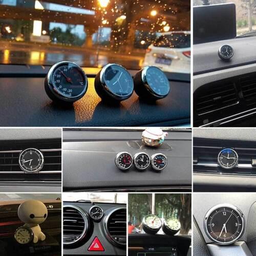 Car Thermometer Hygrometer Quartz Clock For Dashboard Ornament Kit Set New  #ur