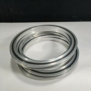 Centering ring, DN ISO 160, AL inner ring with AL outer, Fluorocarbon gasket