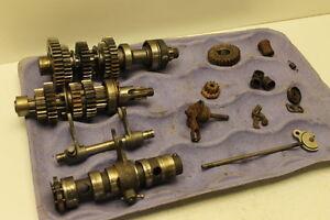 Kawasaki-S3-S-3-Triple-400-4182-Transmission-amp-Misc-Gears-Shift-Drum-amp-Forks