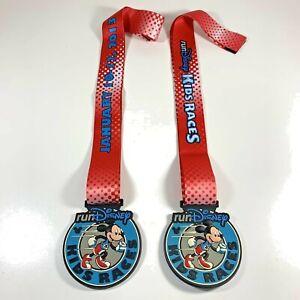 (2) 2013 Run Disney Kids Races Mickey Mouse Challenge Medal Set