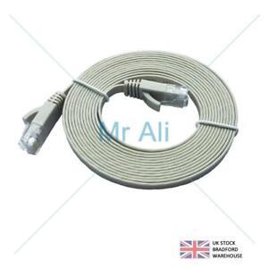 10m-FLAT-CAT6-Ethernet-LAN-Patch-Cable-Low-Profile-GIGABIT-RJ45-GREY-007650