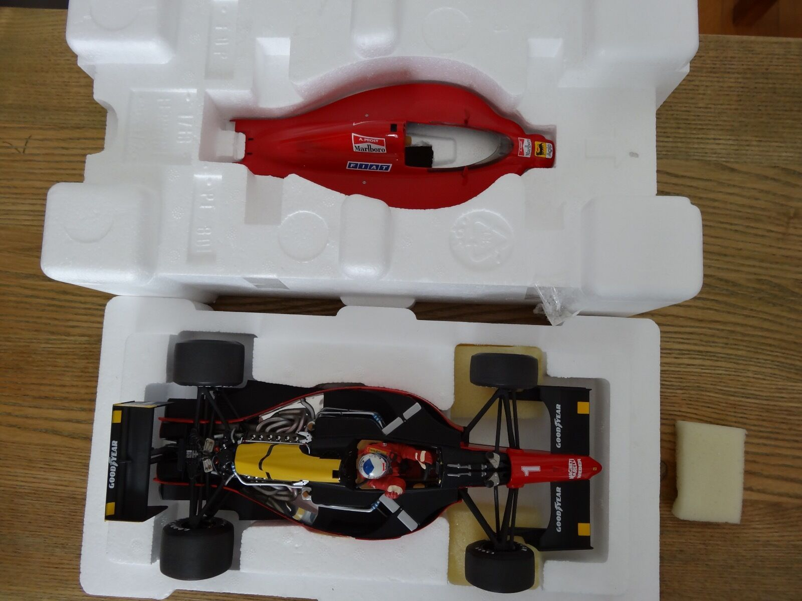 F1 Ferrari 641 2, GP France 1990, Alain Prost 100th Vict. de Ferrari EXOTO 1 18