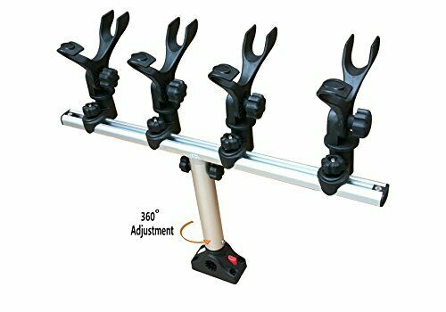 Crappie Adjustable asta Holder Kit w 24 Tracker Crossbar  Holds up to 4 canne
