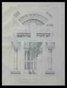 SANTEUIL, EGLISE - 1894 - PLANCHE ARCHITECTURE -
