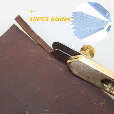 LEMO DIY Leathercraft Copper Positioning Cutter (with 10pc blades) Tool Kit TO65