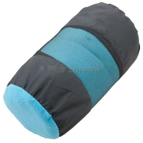 Turquoise 50 Degree Fleece Sleeping Bag 32 x 75 Camping Emergency Survival Kit