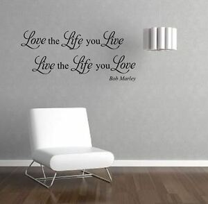 Bob Marley quote Lyric\'s Wall Art Sticker Mural Quote Wall Decals ...